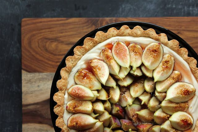 Pink Patisserie: Fig, Almond and Mascarpone Tart