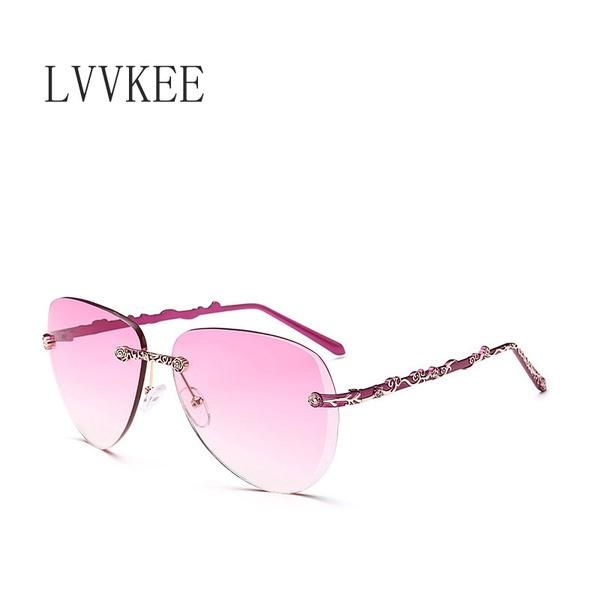 2017 hot Women Sunglasses Women Brand Designer Rimless Sunglasses De Sol Mujer Luxury Retro Rose Gold Sun Glasses for Womens 937