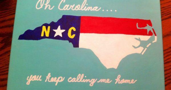 North Carolina State Flag Inspired Canvas by TheCarolinaCanvas