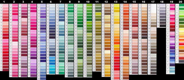 DMC floss color chart