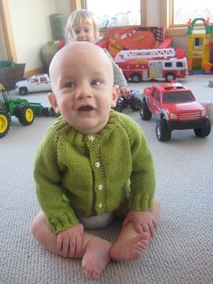 My favorite baby sweater to make. Fast and easy!