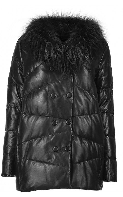 Кожаная куртка (артикул:114577000) La reine blanche