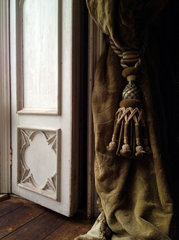 The Base Of A Window And Its Curtain In Gothic Saloon At Birr Castle County Offaly