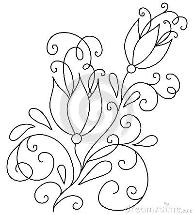 Embroidery Pattern from hand-drawn-abstract-flowers-vector-illustration-design-element-45091138.jpg. jwt