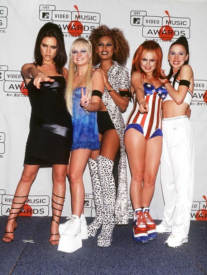 Spice Girls In Mtv Video Music Awards 39 97 And This Is Their Fashion Style This Time Fashion