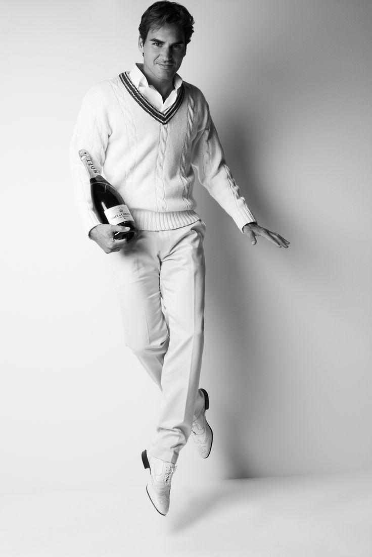 Moët & Chandon is the latest luxury brand to sign Roger Federer as their ambassador. #RogerFederer #Moët&Chandon #Champagne