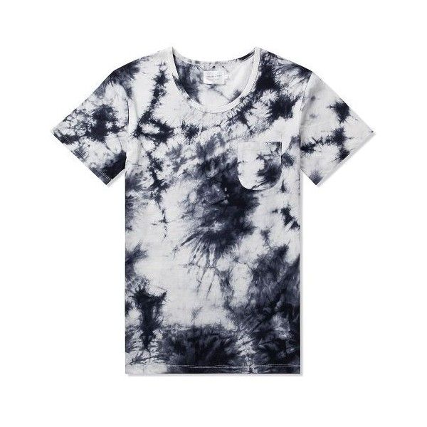 Shades of Grey by Micah Cohen White/Black Tie-Dye S/S Pocket Tee |... ❤ liked on Polyvore featuring tops, t-shirts, black white top, tie dye tops, tie dye t shirts, pocket tops and tye dye t shirts
