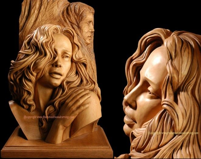 Best Wood Carving Images On Pinterest Sculpture Hairstyles - Artist spends year woods creating beautiful sculptures