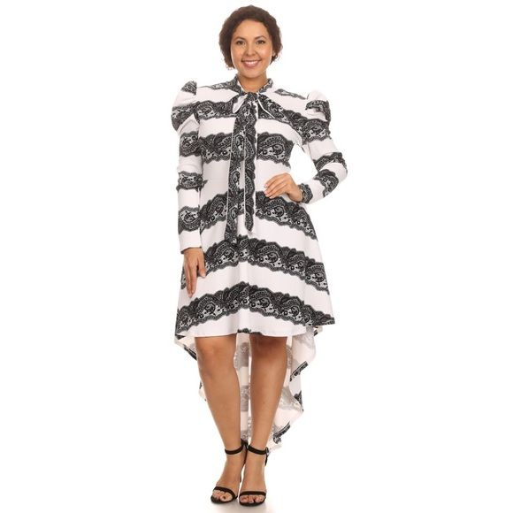 Black and white plus size High Low Dress Black and white plus size High Low Dress  available in size 1x,2x,3x true to size Dresses High Low