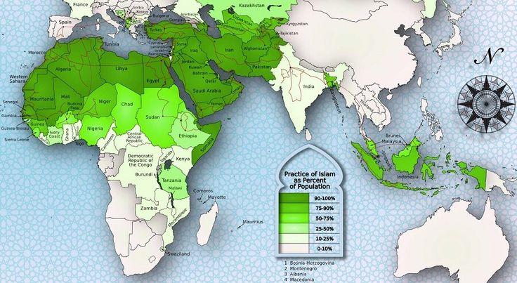 Islam Population World Map