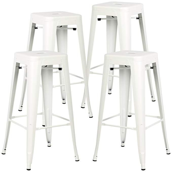 173 96 Amazon Poly And Bark Trattoria Bar Stool In White Set