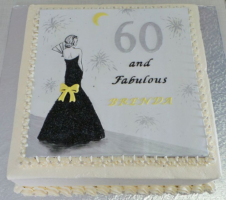 Yellow Silver White And Black Vintage 60th Themed