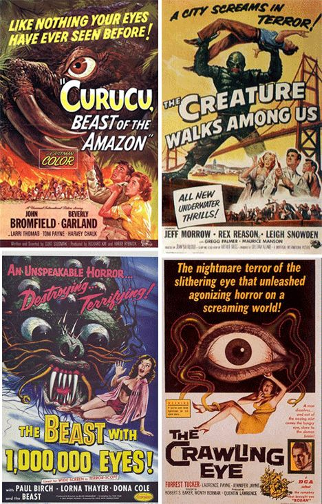 Early monster movies molded the modern consciousness… with a little claymation and a lot of screaming. These are the coolest classic monster movie posters.
