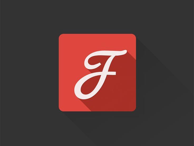 Google Fonts flat longshade icon by Luky Vj