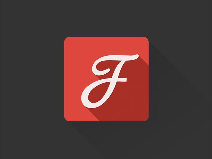 Google Fonts flat longshade icon by Luky Vj
