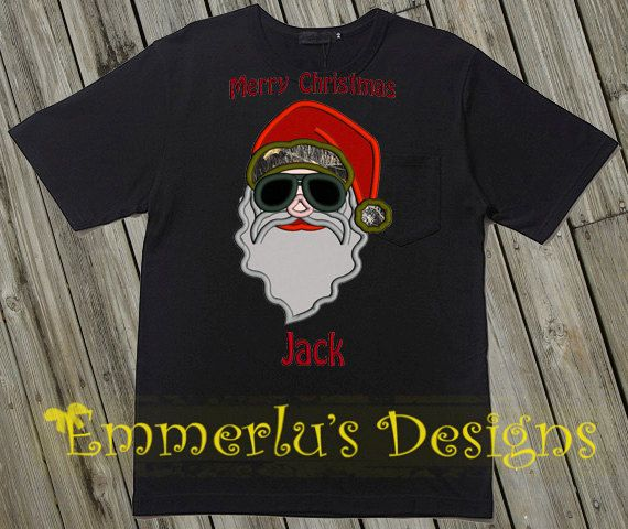 Duck Dynasty Themed Santa Christmas Shirt by EmmerlusDesigns, $27.95