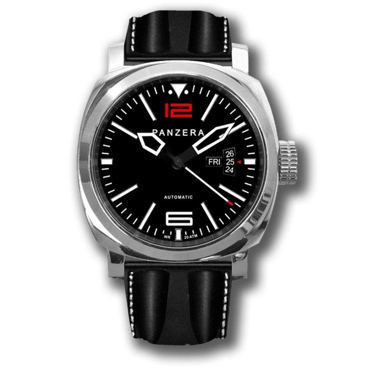 L' ATLANTIC DESCENT Aquamarine PANZERA è un orologio creato con cura artigianale, con elementi di design funzionali per l'utilizzo sia su terra o via mare. Movimento automatico Miyota 820A, 21 jewels, 21.600bpm, riserva di carica 40 ore, vetro zaffiro, WR 200m. ----------------------------------------------------- The PANZERA Aquamarine ATLANTIC DESCENT  is a  meticulously hand assembled timepiece. Movement automatic Miyota 820A, 21 jewels, date function and 40 hour power, sapphire