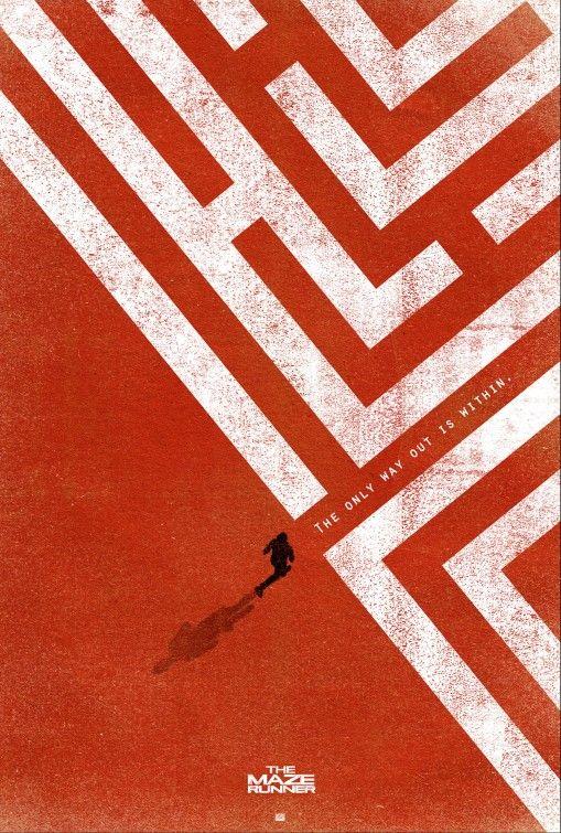 Maze Runner — Webber Design 2014 Poster Design Awards Nominee! Saul Bass, then Ocean's Eleven.  Interessante pela composição, A tipografia combina com a figura e igualmente com o fundo.