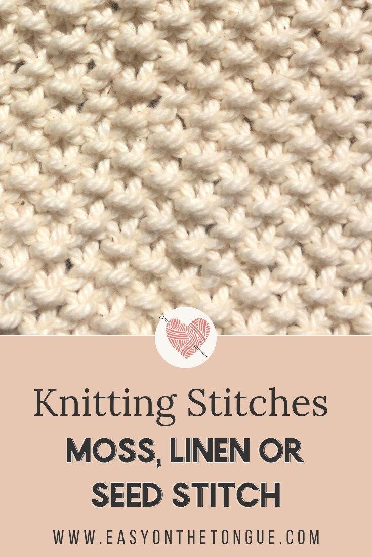 Knitting Stitches - How to Knit Moss Stitch | TEJIDO | Pinterest ...