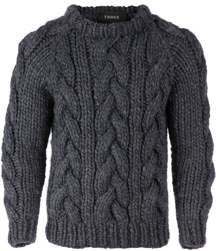 Taakk chunky cable knit sweater