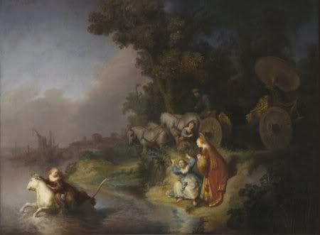 1632: Rembrandt, The abduction of Europe.    De ontvoering van Europa.