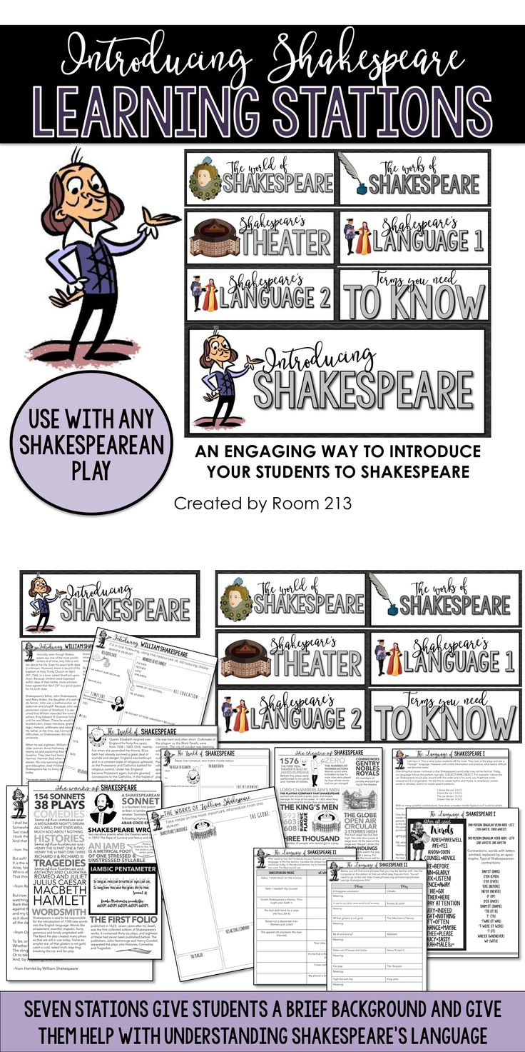 Introduce your students to Shakespeare and his language