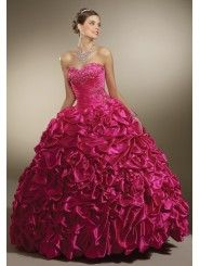 Satin Sweetheart Embroidered Bodice Quince Dress