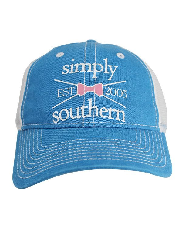 Simply Southern Trucker Hat - Blue from Chocolate Shoe Boutique