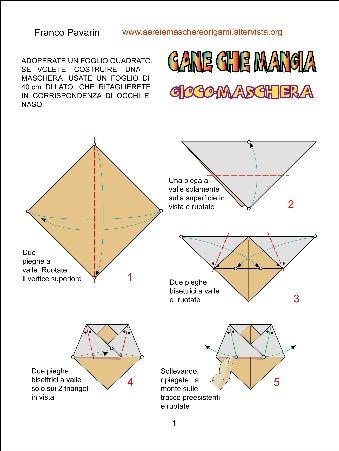 ANIMALI - Aerei di carta, maschere origami,architetture, scatole, cappelli origami, arredamento, decorazioni origami, creati da Franco Pavarin