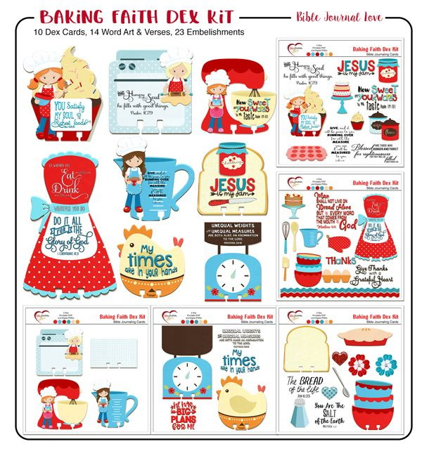 Baking Faith Dex Cards Printable Memory Dex Both Pdfs And Etsy Printable Cards Dex Scrapbook Embellishments Diy