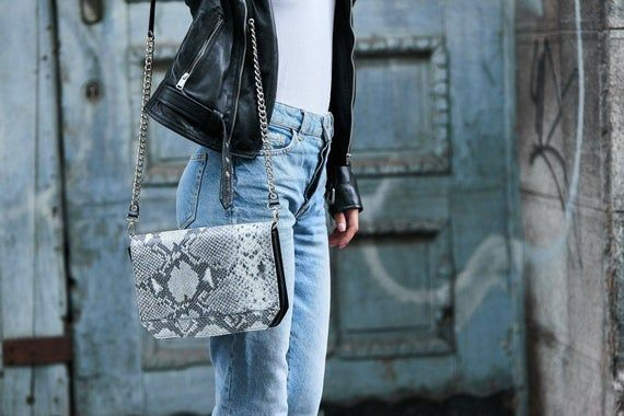 Personalized Leather Bags Snake Print