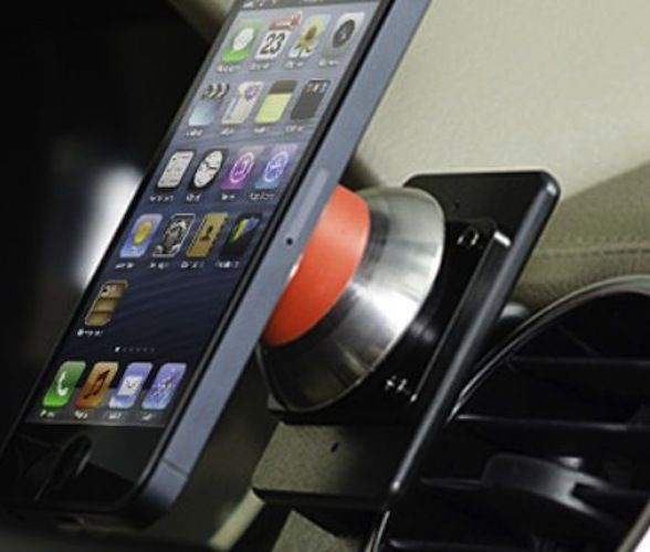 iOauto Pro Magnetic Adjustable Smartphone Mount / Forget dashboard damage and shaky cup holders, and say hello to a rock-solid magnetic mount for mobile phones, small tablets and GPS units, courtesy of unique technologies from iOmounts and ProClip USA. http://thegadgetflow.com/portfolio/ioauto-pro-magnetic-adjustable-smartphone-mount/