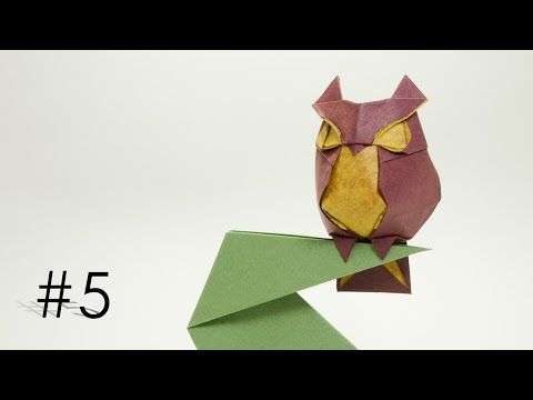 #25 - Origami wise Owl by Hideo Komatsu (part 1of 2) - Yakomoga Origami tutorial - YouTube