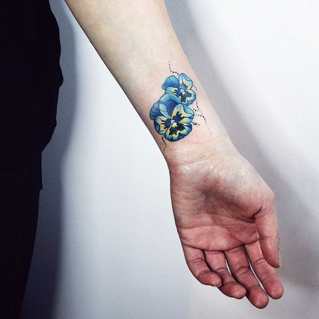 210 best images about flowers tattoo on pinterest on for Small flower tattoos on wrist