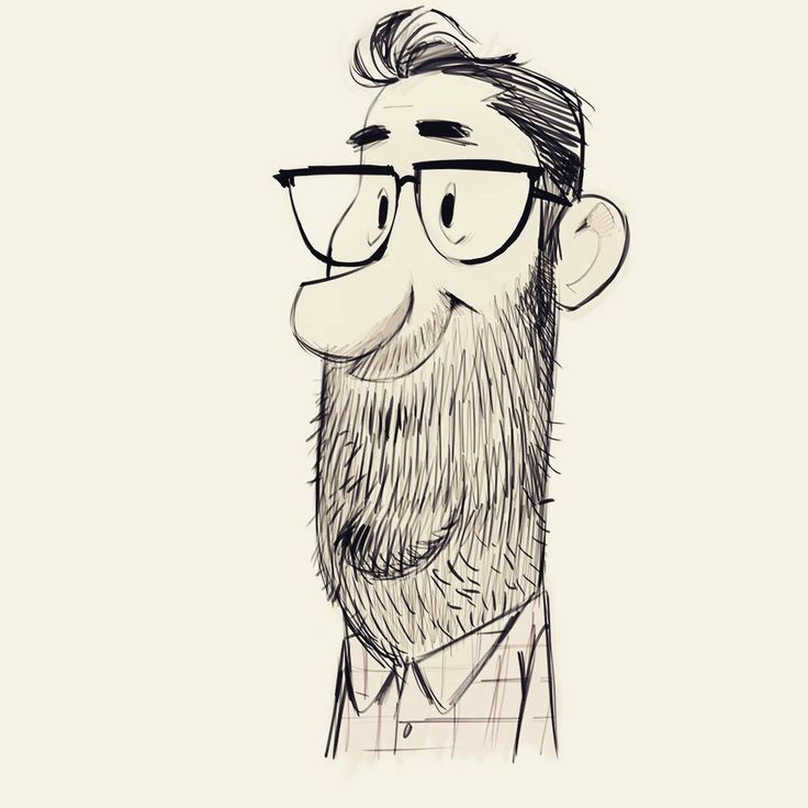 Chuck hasn't shaved for days. It's not that he doesn't want to, but life just gets in the way.  #sketch #guy #beard #happy #instagood