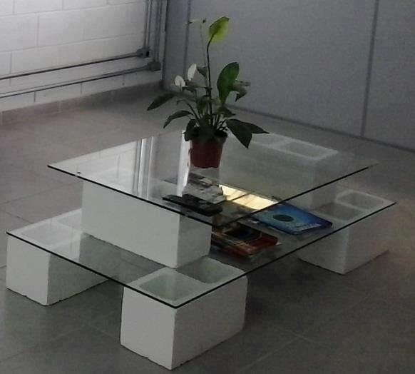 Las 25 mejores ideas sobre mesa de concreto en pinterest y - Muebles con ladrillos ...
