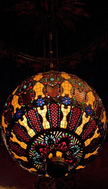 The 2000 pound chandelier at the Fabulous Fox Theatre in St. Louis is a site to see as it hangs high over your head in the grand auditorium.