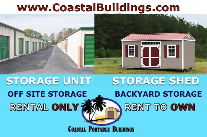 Rent to own, Cash or traditional financing for storage in