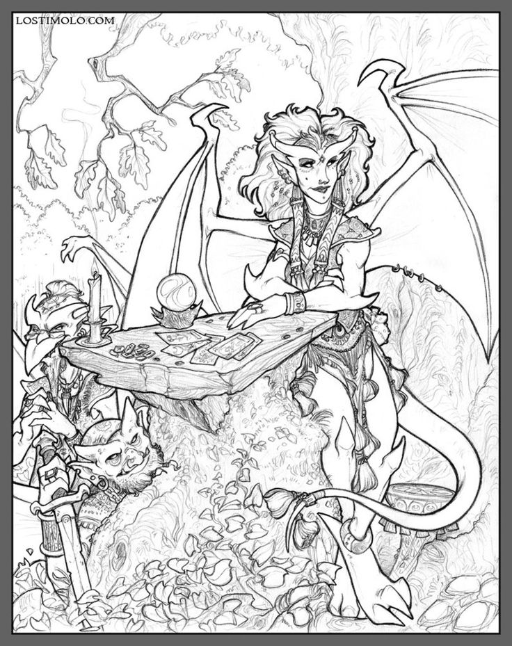 gargoyles characters coloring pages - photo#8