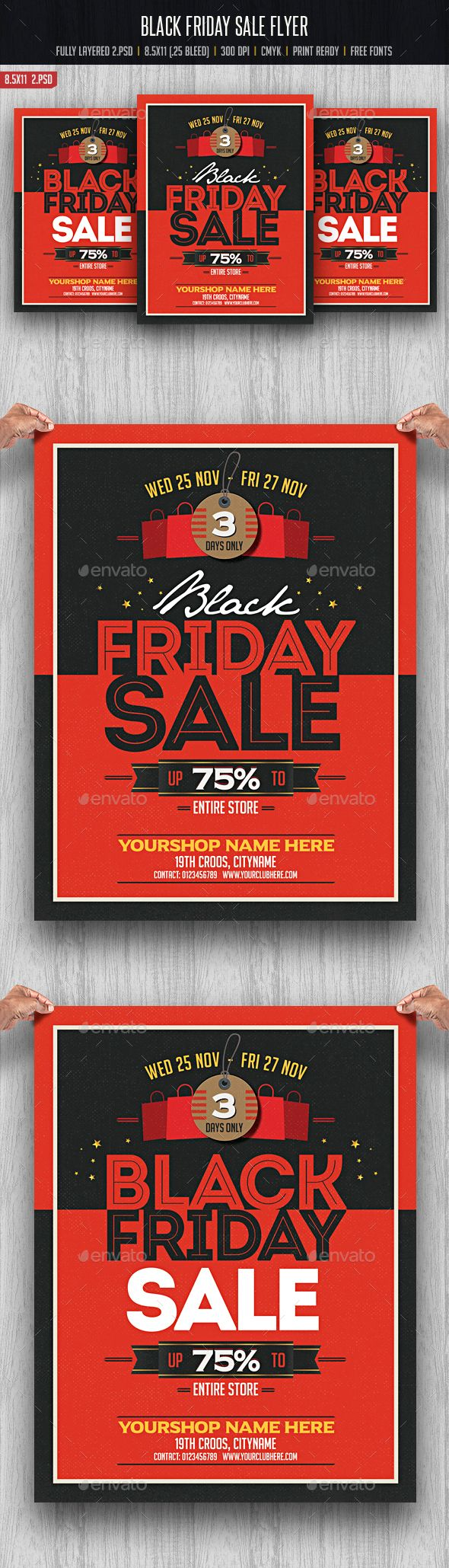 Black Friday Flyer Template PSD #design #promote Download: http://graphicriver.net/item/black-friday-flyer/13289231?ref=ksioks