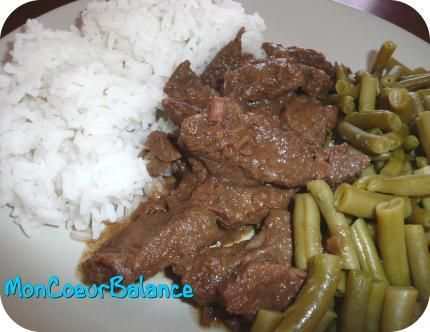 recette Boeuf aux oignons (weight watchers propoints)