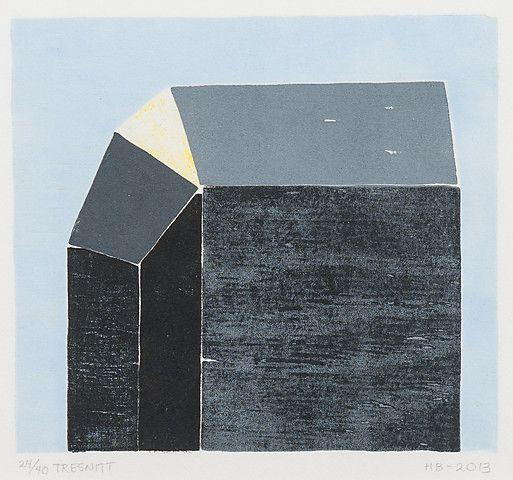 Hanne Borchgrevink <em>Uthus us</em><br />tresnitt 24/40, 13x14,5 cm