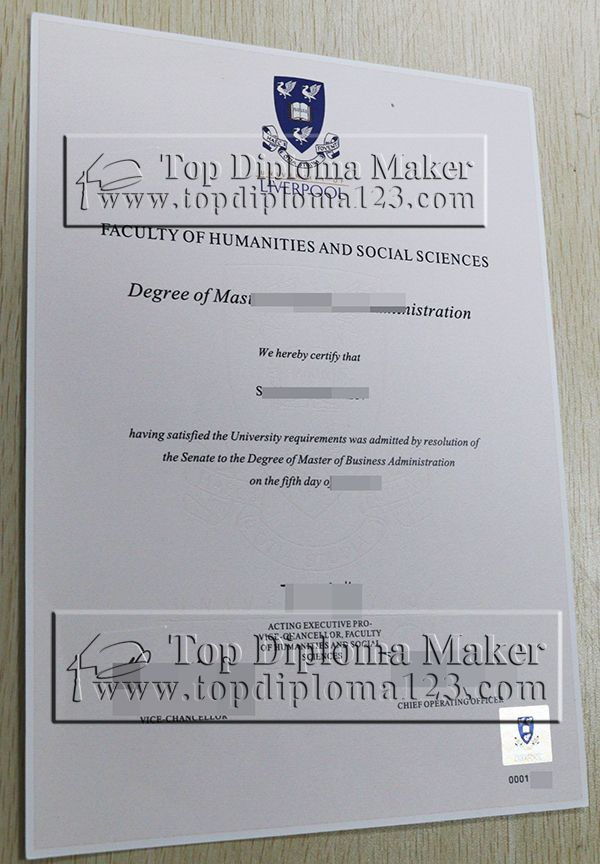 Buy Fake Degree From University Of Liverpool Obtain Fake Diploma