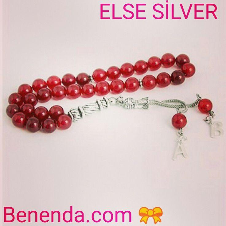 Else silver harfli kırmızı akik tesbih!  #erkeklere#sevdiğinin#baş#harfini#taşıyabileceği#kırmızı#akik#tesbih 🌟 Ürünümüz sadece 59.54 tl!  Sakın kaçırmayın 😃 🎀 Benenda.com 🎀