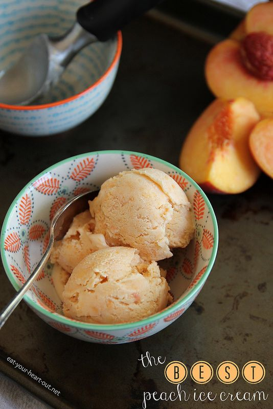 Everything you've been looking for: The perfect peach ice cream recipe to use the best of summer's bounty. #desserts #summer
