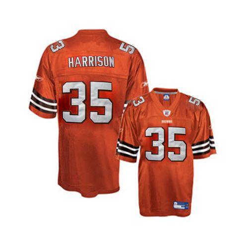Reebok Cleveland Browns Jerome Harrison 35 Orange Authentic Jerseys Sale
