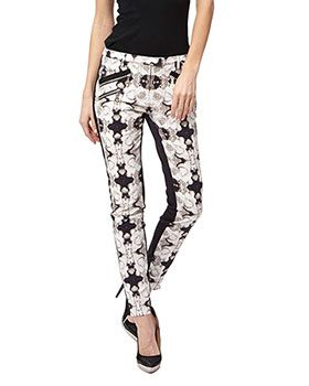 Must Have Pants! Photographic Rose Print Pants By L.A.M.B. Designer Fashion Gewn Stefani Celebrity No Doubt Hair Make-Up Jewellery  Trend Alert 2014 Black and White  Platform Shoes Jeggings  shoplamb.com