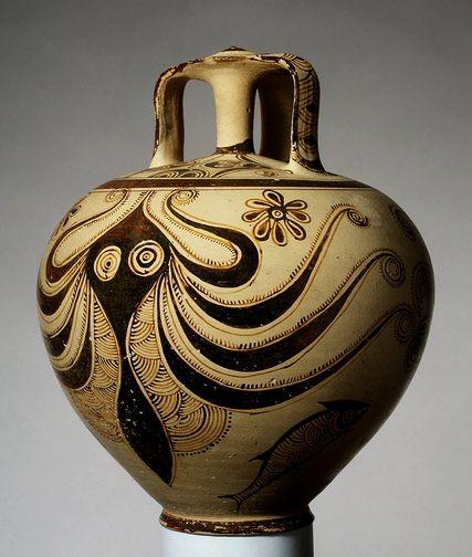 Helladic, Mycenaean    Terracotta stirrup jar with octopus    1200–1100 B.C. at the Met