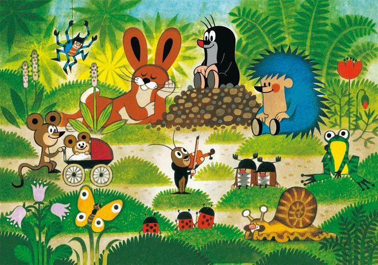 (2014-07) Muldvarpen lytter til græshoppen sammen med de andre dyr