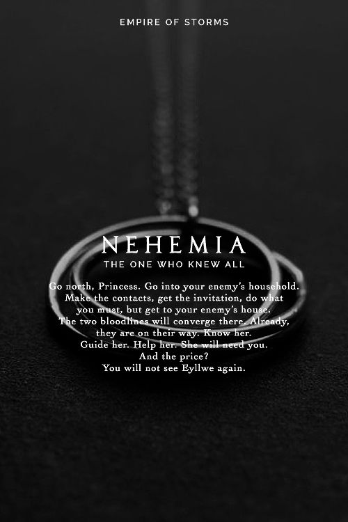 Empire of Storms - Nehemia [Spoilers] I do hate her but I also pity  her